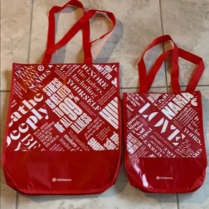 2 new Lululemon large shopping bags